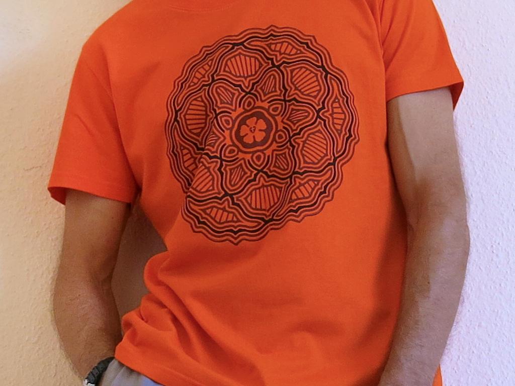 evangélikus póló mandala logo lutherrózsa