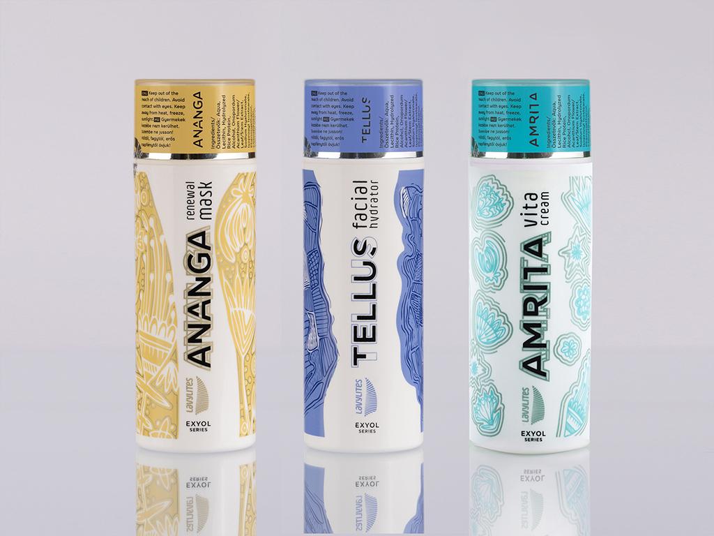 direktszínes körszitázott flakon kozmetikum csomagolás design